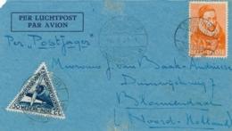 Nederlands Indië - 1934 - 12,5 Cent Willem I Op Postjager-cover Van LBnrDJOKJAKARTA/2 Naar Bloemendaal / Nederland - Indie Olandesi