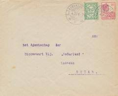 Nederlands Indië - 1922 - 12,5 Cent Op Business Cover Van LB KABANDJAHE Naar Medan - Nederlands-Indië