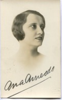 ANA ARNEODO - ACTRIZ ARGENTINA DE NACIDA EN FRANCIA (1898/1977). ACTRESS AUTOGRAPH -LILHU - Autographes