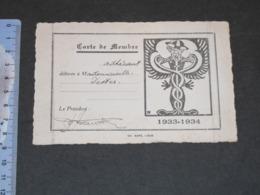 LIEGE-ASSOCIATION DES ETUDIANTS EN SCIENCES COMMERCIALES CONSULAIRES COLONIALES- 1933/1934 CARTE MEMBRE Melle DISTER - Vieux Papiers