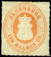 Oldenburg. Sc #22. Michel #16.B. Unused. (*) - Oldenburg