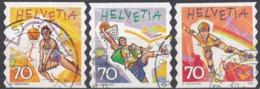HELVETIA - SUISSE - SVIZZERA - 1998 - Lotto Composto Da 3 Valori Usati: Yvert 1586, 1589 E 1590. - Suisse