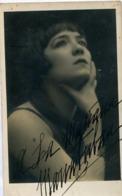 MARIA TUBAU - ACTRIZ ESPAÑOLA, MADRID MADRILEÑA (1854/1914). ACTRESS AUTOGRAPH CIRCA 1890 -LILHU - Autographes
