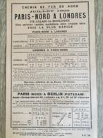 TRAINS .Chenin De Fer Du Nord 1905 Belgique Russie Allemagne Exposition Universelle De Liége Train - Europe