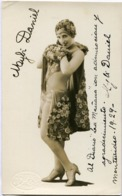 MYBI DANIEL - ACTRIZ BAILARINA. ACTRESS DANCER AUTOGRAPH YEAR 1929 -LILHU - Autographes