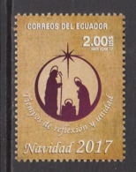 2017 Ecuador Christmas Noel Complete Set Of 1   MNH - Ecuador