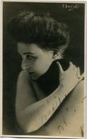 TATIANA PAVLOVNA (1893-1975) - ACTRIZ NACIDA EN YEKATERINOSLAV, RUSIA (HOY UCRANIA). ACTRESS AUTOGRAPH -LILHU - Autographes