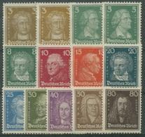 Deutsches Reich 1926 Berühmte Deutsche 385/97 Ohne Gummierung (G17269) - Deutschland