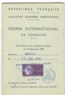 Permis International De Conduire (République Française). - Francia