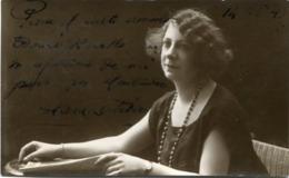 SARA ... -  AUTÓGRAFO DE ACTRIZ DESCONOCIDA. ACTRESS AUTOGRAPH UNKNOWN ARTISTE INCONNU CIRCA 1920's -LILHU - Autographes