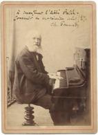 P166 Photo Ancienne Du Pianiste Ch. Gounod Dédicacée En Août 1887 à L'Abbé Pellé - Oud (voor 1900)