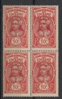 Océanie - 1922-27 - N°Yv. 49 - Tahitienne 10c - Bloc De  4 - Neuf Luxe ** / MNH / Postfrisch - Ongebruikt