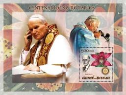 Guinea - Bissau 2005 - Pope John Paul II & P.Harris, Orchid - Guinée-Bissau