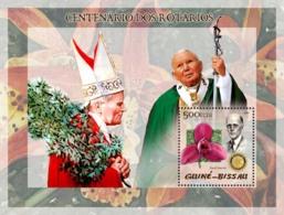 Guinea - Bissau 2005 - Pope John Paul II & P.Harris, Orchid - Guinea-Bissau