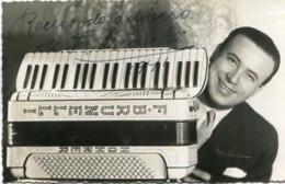 FELICIANO BRUNELLI -  AUTÓGRAFO MUSICO FRANCES DE NACIONALIDAD ARGENTINA. MUSICIAN AUTOGRAPH CIRCA 1945's -LILHU - Autographes