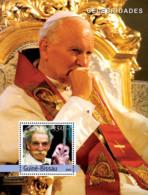 Guinea - Bissau 2004 - Pope John Paul II & A. Schweitzer, Owl - Guinea-Bissau