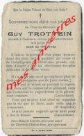 Guerre 1940-victime Civile Bombardement Oxelaere Du 8 Juillet 1941- Guy TROTTEIN - Décès