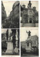 4 X VALLADOLID Calle Duque Victoria + Tram + Estatua. REGALO De La CASA ZURITA Espana 1913 SPAIN. Serie De 4 CPA. - Valladolid