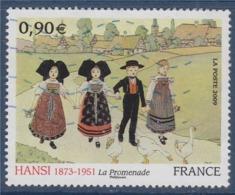 = Hansi, Jean-Jacques Waltz, Alsaciens En Costumes Traditionnels, Oies, N°4400 Oblitéré - Gebraucht