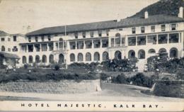 1934 , SUDAFRICA , TARJETA POSTAL CIRCULADA , CAPETOWN - SUSSEX , HOTEL MAJESTIC , KALK BAY - Sudáfrica