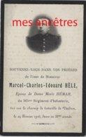 Guerre 1914-mort  Pour La France En 1916 Verdun-Marcel HELE Né En Flandre, Ep Marie HEMAR-365e R - Décès