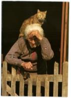 Veille Femme Avec Chat - Cats