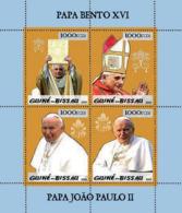 Guinea - Bissau 2005 - Pope Benedict & Pope John Paul II 4v, Y&T 1854-1857, Michel 3008-3011 - Guinea-Bissau