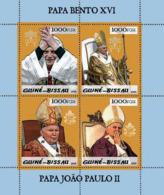 Guinea - Bissau 2005 - Pope Benedict & Pope John Paul II 4v, Y&T 1862-1865, Michel 3004-3007 - Guinea-Bissau