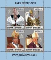 Guinea - Bissau 2005 - Pope Benedict & Pope John Paul II 4v, Y&T 1858-1861, Michel 2996-2999 - Guinea-Bissau