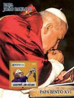 Guinea - Bissau 2005 - Pope Benedict & Pope John Paul II S/s, Y&T 246, Michel 3014/BL503 - Guinea-Bissau