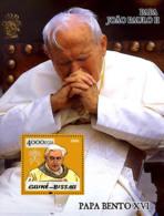 Guinea - Bissau 2005 - Pope Benedict & Pope John Paul II S/s, Y&T 244, Michel 3015/BL504 - Guinea-Bissau