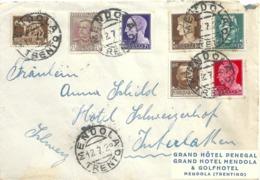 "Motiv Brief  ""Grand Hôtel Penegal, Mendola"" - Interlaken         1929 - Oblitérés"