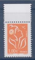 = Marianne De Lamouche ITVF 1.00€ Orange N° 3739a Neuf Gommé, Avec Bord De Feuille - 2004-08 Marianne De Lamouche