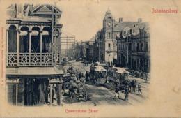 1903 , SUDAFRICA , TARJETA POSTAL CIRCULADA , COMMISSIONER STREET - JOHANNESBURG - Sudáfrica