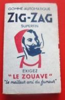 PAPIER à CIGARETTES LE ZOUAVE ZIG ZAG Tabac (objets Liés)  PAPIER Gommé AUTOMATIQUE NE DÉNATURE PAS GOUT DU TABAC - Altri