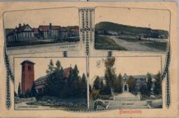 1905 , SUDAFRICA , TARJETA POSTAL CIRCULADA , BLOEMFONTEIN , DREBNER SCHOOL , NAVAL HILL , THE CONVENT , CATHEDRAL - Sudáfrica