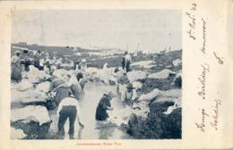 1903 SUDAFRICA , TARJETA POSTAL CIRCULADA , JOHANNESBURG , WASH TUB , PRETORIA - ESHER - Sudáfrica