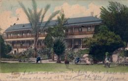 1904 SUDAFRICA , TARJETA POSTAL CIRCULADA , UMGENI - QUEEN'S BRIDGE HOTEL AND GARDEN - Sudáfrica
