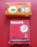 VINTAGE AMPOULE FLASH POUR APPAREIL PHOTO Photographie  Matériel & Accessoires PHILIPS PHOTOFLUX AG1-MAZDAFLASH - Matériel & Accessoires