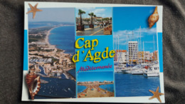 CPM CAP D AGDE 34 MULTI VUES COQUILLAGE ETOILE DE MER ED AS - Agde