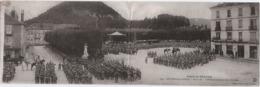 Bruyéres Les Vosges (88)  Revue Du  D'Infanterie Sur La Place Stanislas - CARTE DOUBLE - Bruyeres