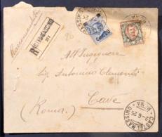 FRC026 - LETTERA RACCOMANDATA CASTELMASSIMO A CAVE 2 6 1925 - Marcophilia