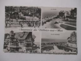 CPA CPSM CP CALVADOS 14 SOUVENIR DE VILLERS-SUR-MER 1961 PLAGE / PLACE MERMOZ / VILLA CASTELLAMARE / CASINO ED CAP TBE - Villers Sur Mer