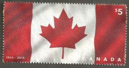 Sc. # 2808 Fabric Flag From Souvenier Sheet Used 2015 K263 - 1952-.... Règne D'Elizabeth II