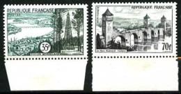 1118 / 1119 - 2 Valeurs Série Touristique - Bords De Feuilles - Neufs N** - Nuovi