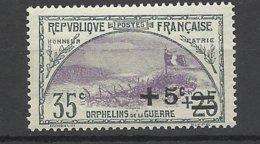 France N°   166  Orphelins      Neuf *    TB= - MH VF  Soldé à  Moins De 15 % ! ! ! - France