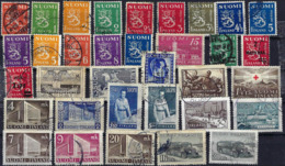 FINLAND 1935-1947 Small Collection 34 Stamps Used - Finland