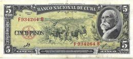 CUBA 5 PESOS, CON FIRMA DEL CHE GUEVARA, AÑO 1960 , UNC - Cuba