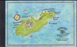 ALDERNEY GUERNSEY  Markenheftchen 1, Gestem,pelt, Historische Entwicklung 1998 - Alderney