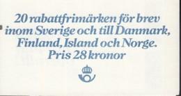 SCHWEDEN,  Markenheftchen 87, Mit Zählbalken, Gestempelt, Provinzwappen 1982 - Markenheftchen